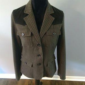 Eddie Bauer plaid, wool and corduroy blazer!